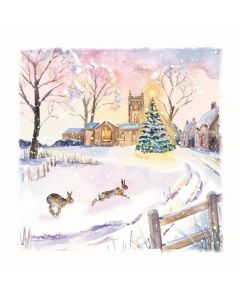 Winter Hares - Motor Neurone Disease Association Charity Christmas Cards