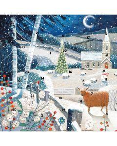 Moonlit Church Square Advent Calendar