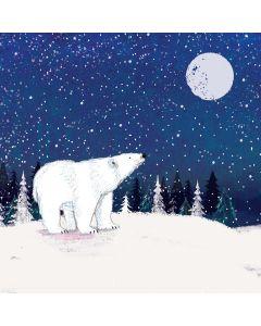 Moonlit Polar Bear - Alzheimer's Society Charity Christmas Cards