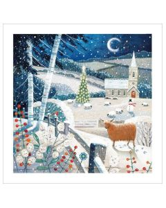 Christmas Moonlit Scene - Cards For Good Causes Charity Christmas Cards