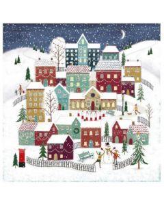 Moonlight Village - Cancer Research UK Charity Christmas Cards