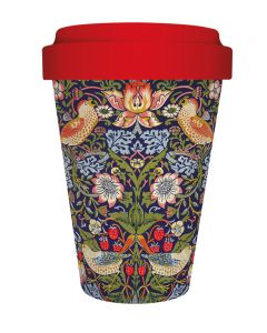 Strawberry Thief Bamboo Travel Mug