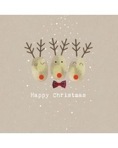 Reindeer Fingerprints - Multiple Sclerosis Trust Charity Christmas Cards