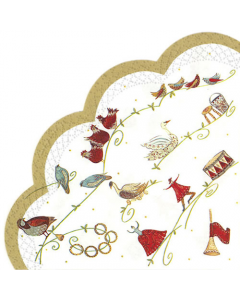 12 Days of Christmas Rondo Napkin - Charity Christmas Gifts & Decorations