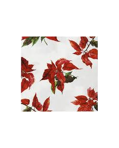 Botanical Poinsettia Lunch Napkin - Charity Christmas Gifts & Decorations