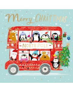 North Pole Express Advent Card