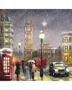 Snowy Westminster - Parkinson's UK London  Charity Christmas Cards