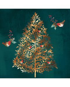 Golden tree - Parkinson's UK Charity Christmas cards