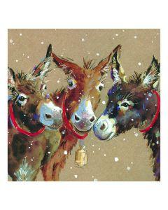 Three Donkeys - Perennial Charity Christmas Cards