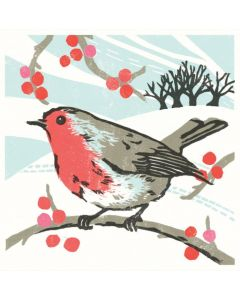 Robin and Berries  - Cards For Good Causes Charity Christmas Cards
