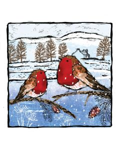 Robins Print - Alzheimer's Society Charity Christmas Cards