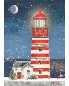 Christmas Lighthouse - RNLI Charity Christmas Cards