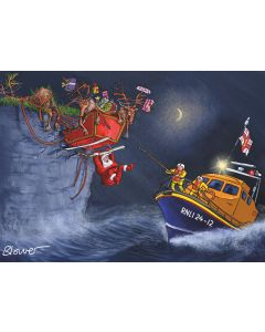Cliffhanger Welsh - RNLI Charity Christmas Cards