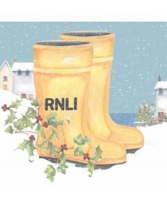 Winter Wellies - RNLI Charity Christmas Cards