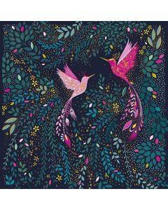 Elegant Hummingbirds Single Card