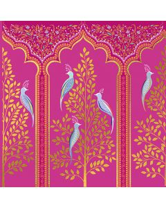 Gold Trees, Birds and Arches Everyday Single Card