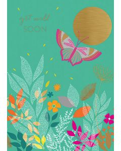 Get Well Butterfly Single Card