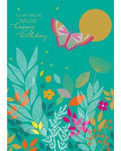 Happy Birthday Mum Single Card
