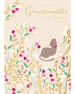 Lovely Granddaughter Happy Birthday Single Card