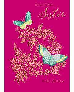 Lovely Sister Happy Birthday Single Card