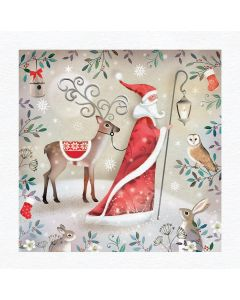 Santa and Rudolph -  The Children's Society Charity Christmas Cards