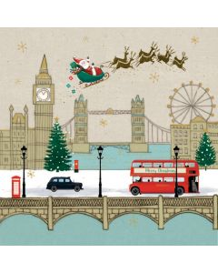 Santa Over London - Save The Children Charity Christmas Cards