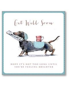 Silly Sausage Get Well Soon Single Card