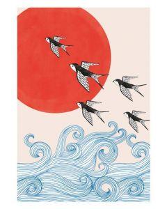 Swallows and Sea Sakura Heights - Everyday Single Card
