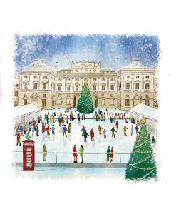 Skaters at Somerset House - Alzheimer's Society Charity Christmas Cards