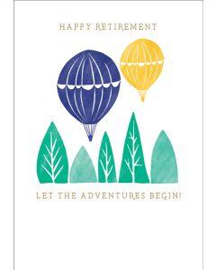 Let The Adventure Begin Retirement Single Card