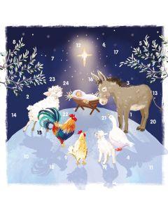 Starlit Nativity Advent Card