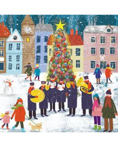 Brass Band By The Tree - Stroke Association Charity Christmas Cards