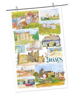 Sussex Tea Towel