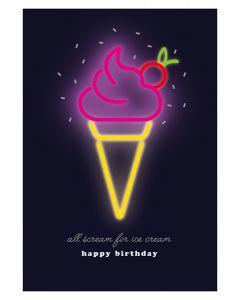 Ice Cream Birthday Single Card