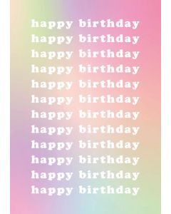 Happy Birthday Rainbow Single Card