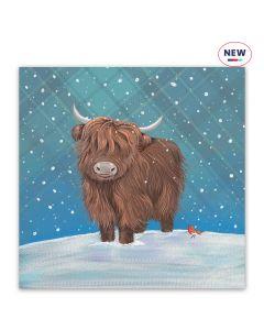 Tartan Highland Cow - Help For Heroes Charity Christmas Cards