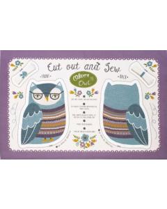 Cotton Tea Towel - Oliver Owl