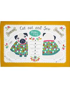 Cotton Tea Towel - Percy Pug