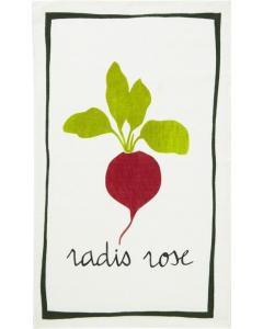 Linen Tea Towel - Radish