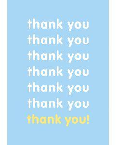 Thank You Thank You Thank You - Thank You Single Card