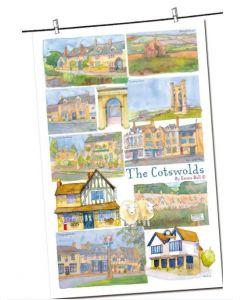 The Cotswolds Tea Towel  - 100% cotton