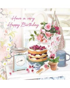 Time for Cake Birthday Single Card