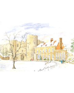 Tonbridge Castle In The Snow - Charity Christmas Cards