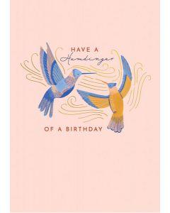 Hummingbird Birthday Single Card