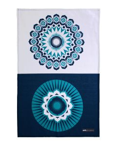 Cotton Tea Towel - Darjeeling Blue