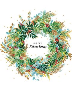 Christmas Wreath - Versus Arthritis Charity Christmas Cards