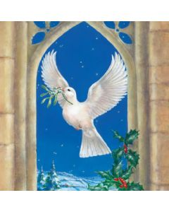 Dove Window (Welsh) - Cards For Good Causes Charity Christmas Cards