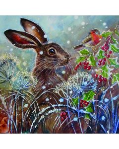 Winter Hare - National Autistic Society Charity Christmas Cards