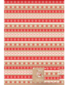 Leaping Reindeer & Christmas Greetings FP Wrap - Charity Christmas Gifts & Decorations