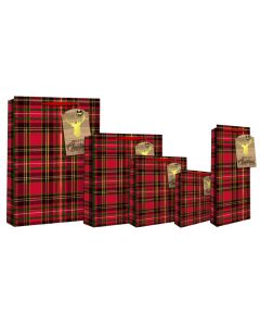 EuroWrap Tartan with Bell LRG Bag - Charity Christmas Gifts & Decorations